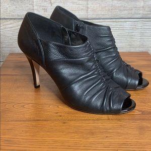 Antonio Melani 8.5 heeled peep toe black booties